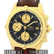 百年靈 (Breitling) Chronomat 18k Yellow Gold 39mm Black Dial