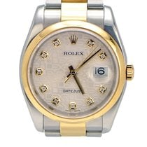 Rolex DateJust Two Toned Jubilee Diamond Dial and Oyster Ban