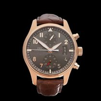 IWC Pilots Chronograph Spitfire Chronograph 18k Rose Gold...