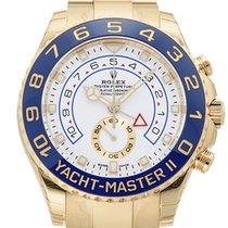 Rolex Yacht-Master II 18k Gold White Dial Mens Watch 44mm NEW