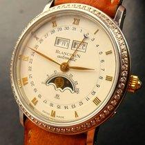 Blancpain VILLERET Mondphase Vollkalender Stahl 750 Gold...
