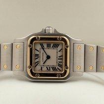 Cartier Santos Gold Steel Lady Watch 35 x 25 mm (Full Set)