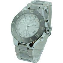 Cartier W10184U2 Must 21 Chronoscaph - Steel on Rubber Bracelet