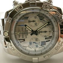 Breitling B01 44mm Ab0110 S/s Chronograph W/mop Dial Boxes/boo...
