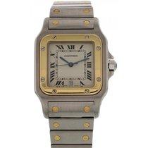 Cartier Men's Cartier Santos Galbee 18k Yellow Gold &...