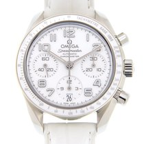 Omega Speedmaster Stainless Steel White Automatic 324.33.38.40...