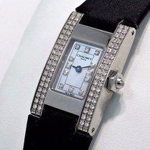 Chaumet Rectangle W01212/061 Factory Diamond Bezel Dial...