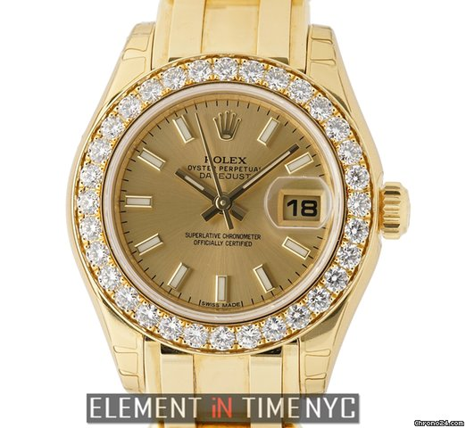 vendesi rolex datejust lady pearlmaster 18k yellow gold. Black Bedroom Furniture Sets. Home Design Ideas
