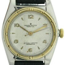 Rolex Oyster Perpetual Bubble Back Herrenuhr Stahl/Gold