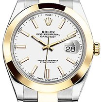 Rolex Datejust 41 126303 White Index Yellow Gold Stainless...