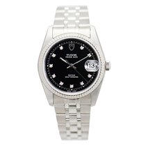 Tudor New  Prince Date-day Stainless Steel Black Automatic...