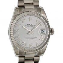 Rolex Datejust Medium 31mm Weißgold Präsident Armband Ref. 178279