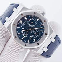 Audemars Piguet Royal Oak Dual Time Blue Stainless Steel