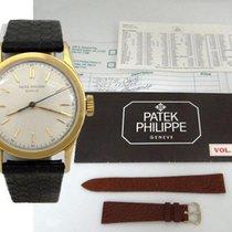 Patek Philippe Mens Vintage 18k Yellow Gold  Calatrava Geneve...