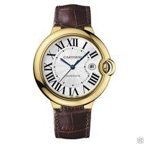 Cartier Ballon Bleu 42mm W6900551 18kt Yellow Gold Brown Leather