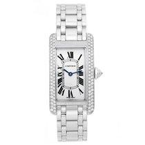 Cartier Tank Americaine (or American) Ladies WG Diamond Watch...