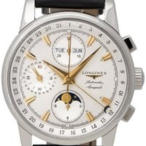 Longines Conquest Heritage Automatic Chronograph Steel Mens...