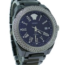 Versace Ladies Versace Dv One Black Ceramic Diamond 41mm...