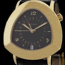DeLaneau Yellow Gold Starmaster DUAL TIME Watch