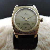 롤렉스 (Rolex) Bubbleback 3372 18K Yellow Gold with Raised Roman...