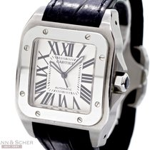 Cartier Santos 100 XL Ref-20073X8 Stainless Steel Box Papers...