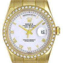 Rolex President Day-Date Men's Watch 118238 White Dial