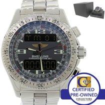 Breitling Professional Steel B-1 43mm Super Quartz GMT Watch