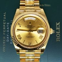 Rolex Day-Date President 40mm 18k Yellow Gold Watch Box/Papers...