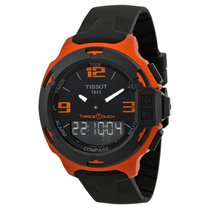 Tissot T-Race Touch Black Dial Orange Rubber Mens Watch...