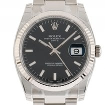Rolex Oyster Perpetual Date Stahl Weißgold Automatik Armband...