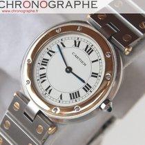 Cartier SANTOS ronde Homme quartz OR et Acier 1994