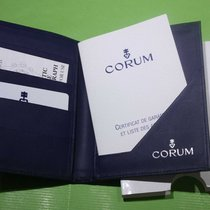 Corum vintage warranty card booklet and wallet for bubble chrono