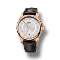 Oris Armbanduhr Leder / rotgold Classic Date