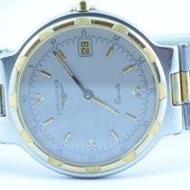 Longines Conquest Herren Uhr Quartz Edelstahl Stahl/gold 34mm Rar