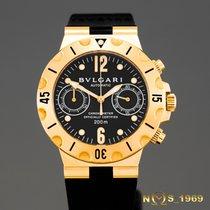 Bulgari Diagono Scuba Chronograph 18K Gold Automatic BOX &...
