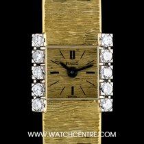 Piaget 18k Y/Gold Champagne Dial Diamond Set Vintage Ladies Watch