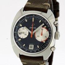 Enicar Big Eye Vintage Chronograph Watch Valjoux 234 Tritium...