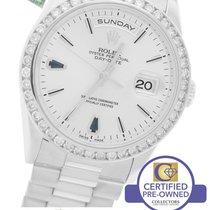 Rolex Day-Date President 36mm Sapphire Diamond 18239 18K White