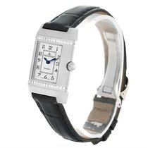 Jaeger-LeCoultre Reverso Florale Ladies Steel Diamond Watch...