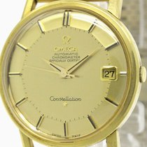 Omega Constellation Pie Pan Dial Cal 564 18k Gold Mens Watch...