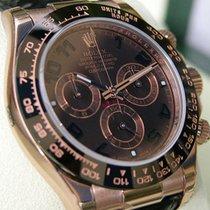 Rolex Daytona 116515ln Mens Everose Gold Chocolate Dial Black...