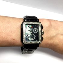 Michele Deco Mens/unisex Ss & Ceramic Watch 108 Factory...