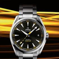 Omega [NEW] Seamaster Aqua Terra Black and Yellow Dial Mens