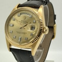 Rolex Day-Date 18K Gold, Diamond Markers, Mens Watch