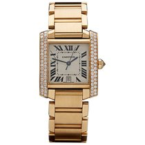 Cartier WE1010R8 Tank Francaise Automatic in Yellow Gold with...