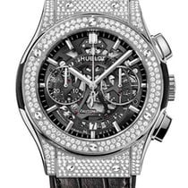 Hublot Classic Fusion Aero Titanium Diamonds Pave Men`s Watch
