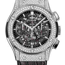 Hublot Classic Fusion Aero Titanium Diamonds Pave Men`s Watch