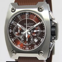 Wyler Geneve Incaflex Chronograph Steel Titanium Carbon Fiber...