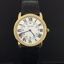 Cartier Ronde Solo 36mm Large 18k Yellow Gold Steel Black...