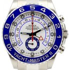Rolex Yacht-Master II 116680 44mm Blue Ceramic Stainless Steel...